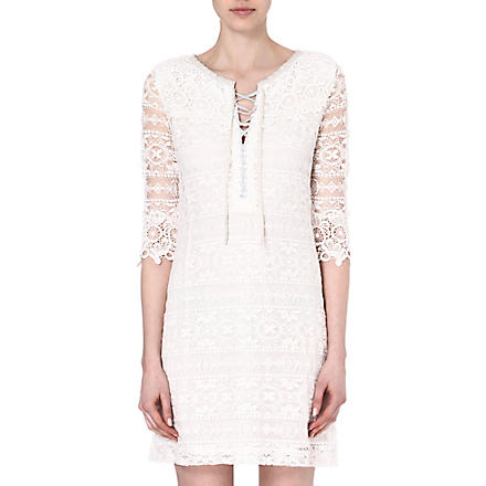 MAJE Eudine lace-detailed dress (Ecru