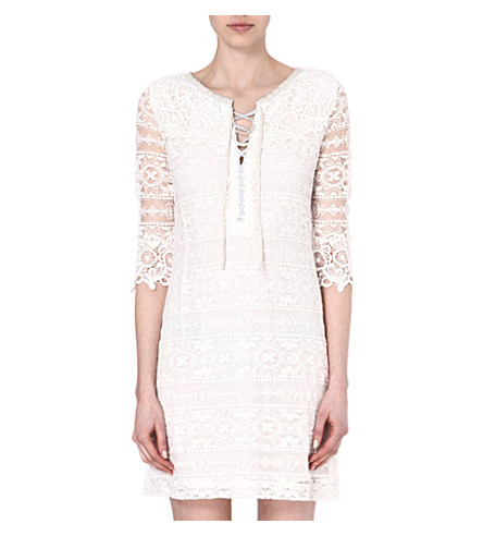 MAJE Eudine lace-detailed dress (Ecru