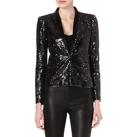 MAJE Eyeliner sequin jacket (Black