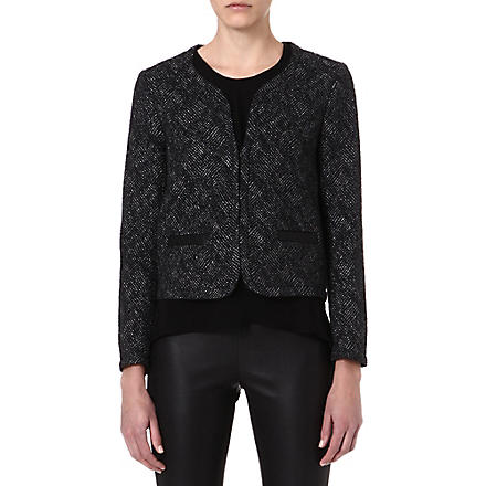 MAJE Facing lurex jacket (Black