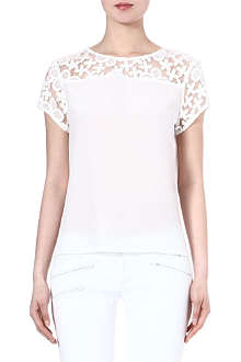 MAJE Faienceri sheer print top
