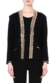 MAJE Fascinate chain trim cardigan jacket