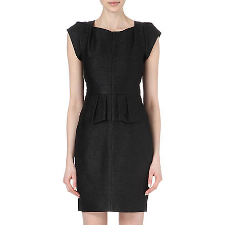 MAJE Fashionis peplum dress (Black