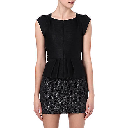 MAJE Fash peplum top (Black