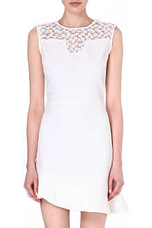 MAJE Faubourg asymmetric dress with lace