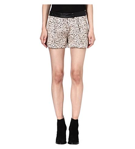 MAJE Fauvisme leopard-jacquard print shorts (Jacquard