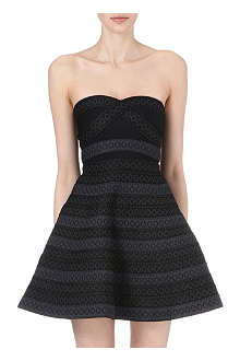 MAJE Strapless dress with elastic stripes