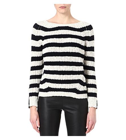 MAJE Faveur wide stripe jumper (Beige
