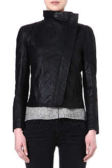 MAJE Febbie leather biker jacket