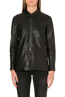 MAJE Fedda leather shirt
