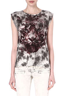 MAJE Felin tiger-print t-shirt