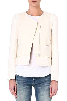 MAJE Fenouil leather-detailed jacket