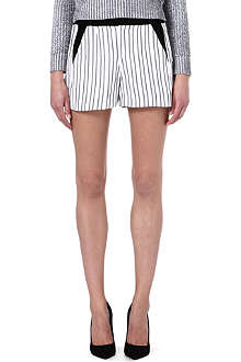 MAJE Fer striped shorts