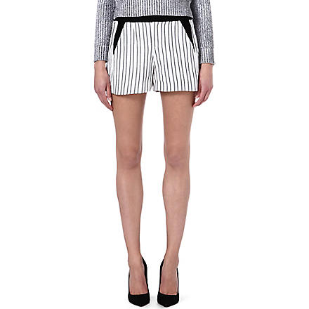 MAJE Fer striped shorts (Black