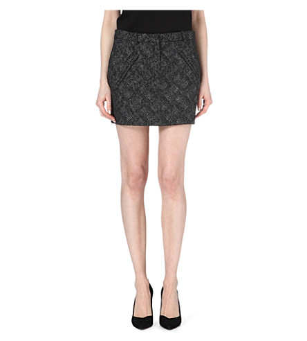 MAJE Fibranne lurex skirt (Black