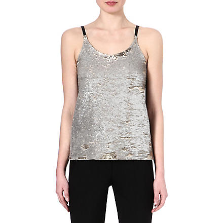 MAJE Fictif glitter top (Or