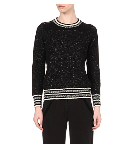 MAJE Fiere heathered jumper (Noir