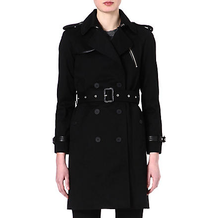 MAJE Figaro trench coat (Black