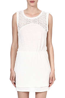 MAJE Flamme linen-blend lace dress