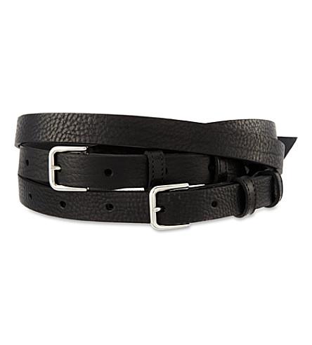 MAJE Flaviana triple belt (Noir
