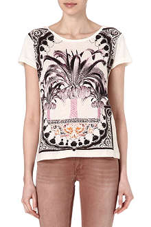 MAJE Round neck printed t-shirt