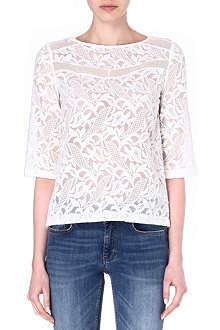 MAJE Flot embroidered-lace top