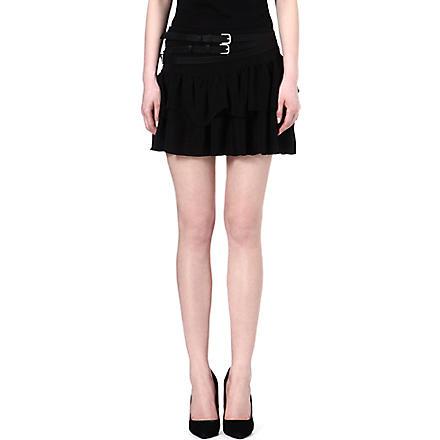 MAJE Flux crepe skirt (Black
