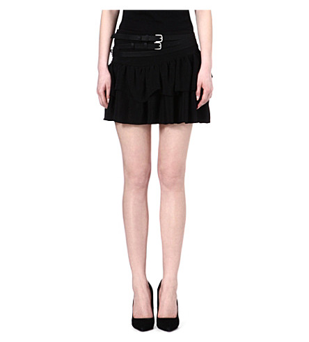 MAJE Flux crepe skirt (Black