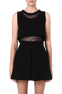 MAJE Foldea lace-panelled dress
