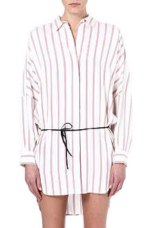 MAJE Stripe shirt dress