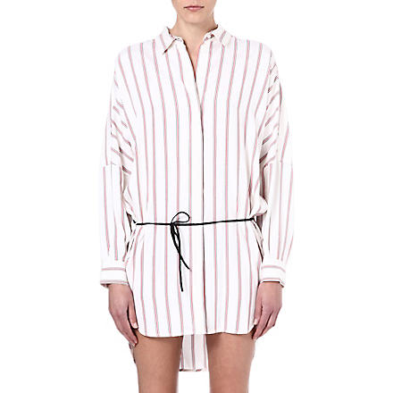 MAJE Folio striped dress (Rouge