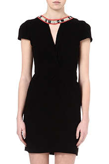 MAJE Fraicheur necklace wrap dress