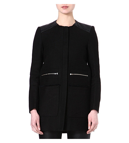 MAJE Framboise coat (Black