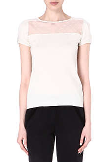 MAJE Frederic lace-detailed top