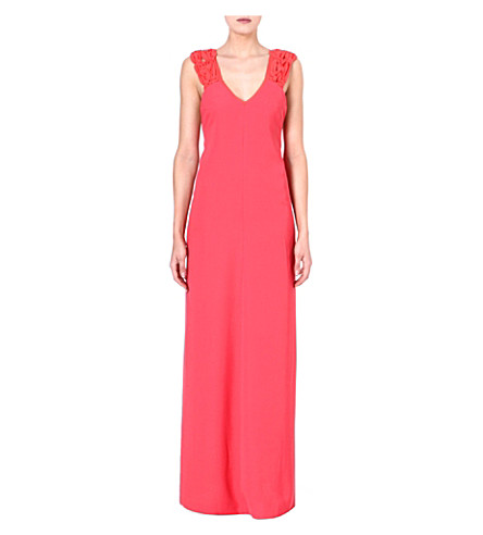 MAJE Freedom maxi dress (Corail