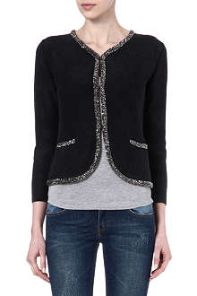 MAJE Bead trim cardigan