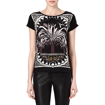 MAJE Fruit palm tree t-shirt (Noir