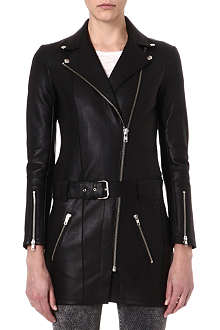 MAJE Fusion leather dress jacket