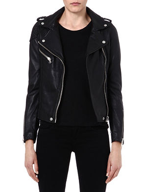 MAJE Madone leather moto jacket