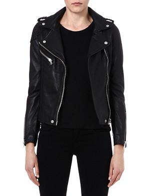 MAJE Madone leather moto jacket