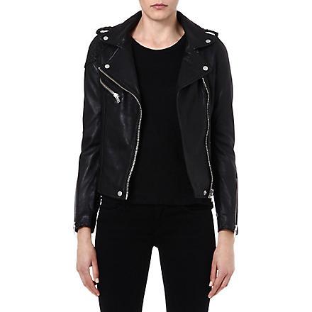 MAJE Madone leather moto jacket (Noir