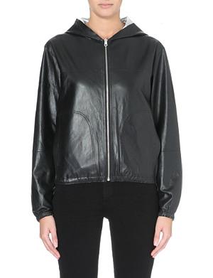 MAJE Bisou reversible leather jacket