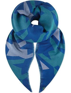 MAJE Houndstooth print scarf