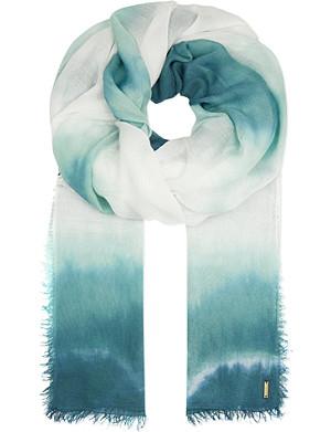 MAJE Tie dye printed scarf