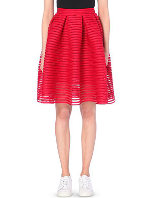 MAJE Jam perforated skirt