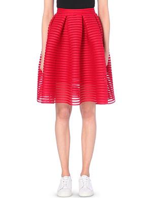 MAJE Jam perforated skirt