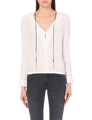 MAJE Liane crepe blouse