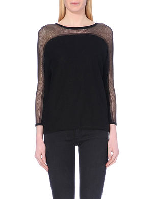 MAJE Meline Loose-knit silk-blend jumper