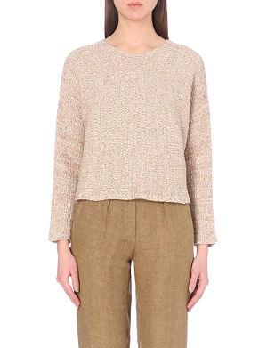 MAJE Morelle marl-effect jumper