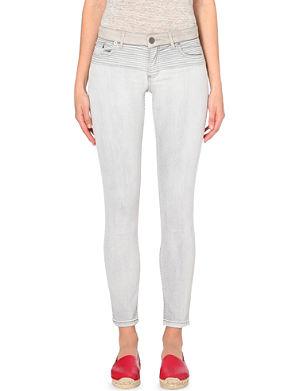 MAJE Phi slim-fit mid-rise jeans